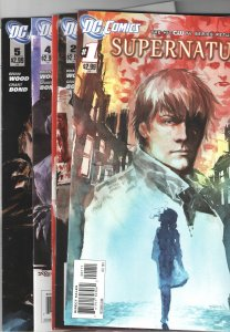 SUPERNATURAL #1,2,3,4,5,6; (2011 DC)(CW);NM 9.2-9.8.HARD TO FIND!