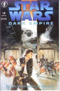 STAR WARS DARK EMPIRE (1991 DH) 4 VF-NM  April 1992 COMICS BOOK
