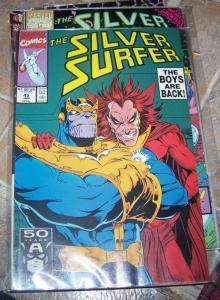 Silver Surfer # 45 jan 1991 MARVEL    JIM STARLIN+  thanos +mephisto INFINITY