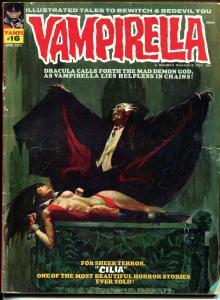 Vampirella #16 1972-Warren-Vampi bondage cover-Dracula-VG