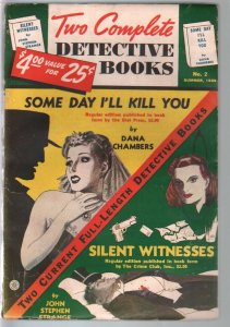 Two Complete Detective Books #2 Summer 1939-2nd issue-pulp thrills-FN-