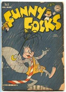 Funny Folks #6 1948- Nutsy Squirrel- DC Funny Animal G