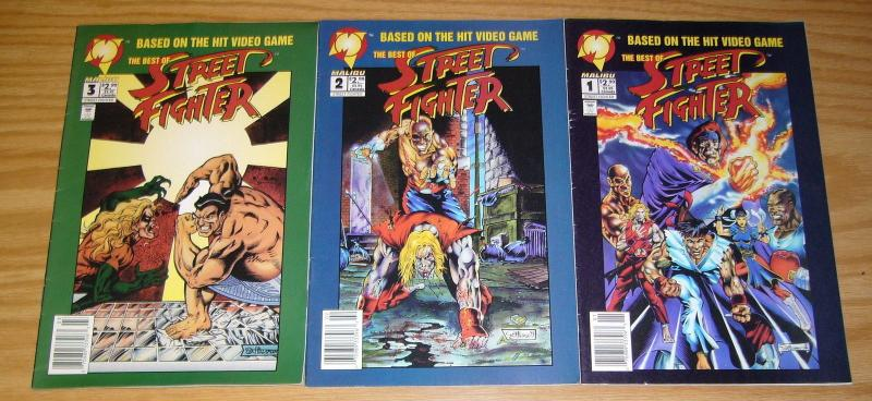 Best of Street Fighter #1-3 FN complete series based on capcom video game set 2