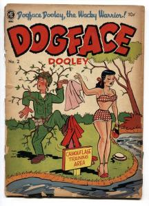 Dogface Dooley #2 1951- Good Girl Art- Spicy cover!