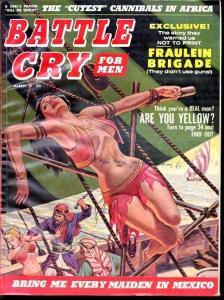 Battle Cry Magazine March 1960-  Hitler-Wyatt Earp -cannibals
