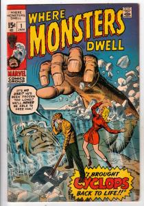 Where Monsters Dwell #1 (Jan-70) NM- High-Grade Sporr