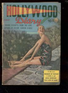 HOLLYWOOD DIARY #2 1950-SWIM SUIT PHOTO COVER-FASHIONS FR/G