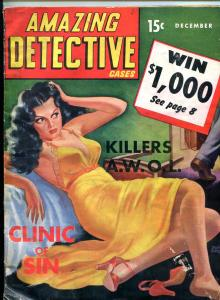 Amazing Detective Cases December 1941- Peter Driben- Clinic of Sin F/G