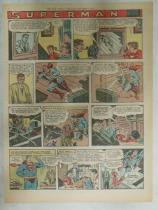 Superman Sunday Page #932 by Wayne Boring from 9/8/1957 Size ~11 x 15 inches