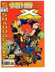 5 Marvel Comics Spider-Man X-Men 1 Team Up 1 Star Jammers 1 3 4 J206