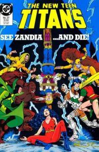 New Teen Titans (1984 series) #27, NM (Stock photo)