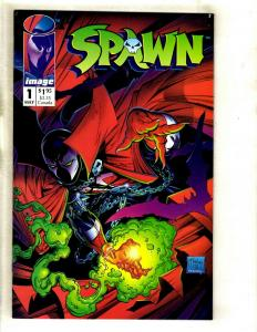 Spawn # 1 VF/NM Image Comic Book Angela Todd McFarlane Clown Violator SM8