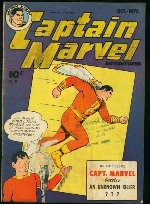 CAPTAIN MARVEL ADVENTURES #49-FAWCETT-good plus G+