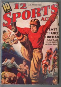12 Sports Aces  9/1939-pulp fiction-baseball-boxing-football-VG