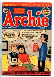 Archie Comics #64 1953-JUGHEAD-BETTY-VERONICA-vg