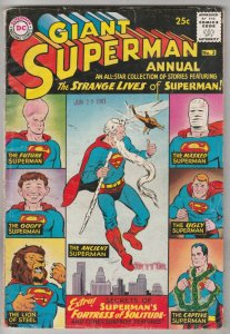 Superman Giant Annual #3 (Jul-61) VG+ Affordable-Grade Superman, Jimmy Olsen,...