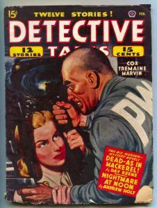 Detective Tales Pulp February 1945- Bradbury- Day Keene