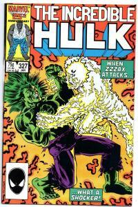 HULK #327, VF/NM, Incredible, Zzzax, 1968 1987, more Marvel in store