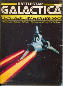 Battlestar Galactica Adventure Activity  Book #16354 1969-TB series-Puzzles-VG