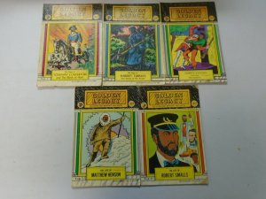 Golden Legacy Black History comic lot 9 different from #1-15 avg 4.0 VG (1966-72