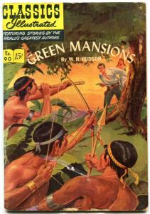Classics Illustrated  #90 HRN 89-Green Mansions by W.H. Hudson -vg