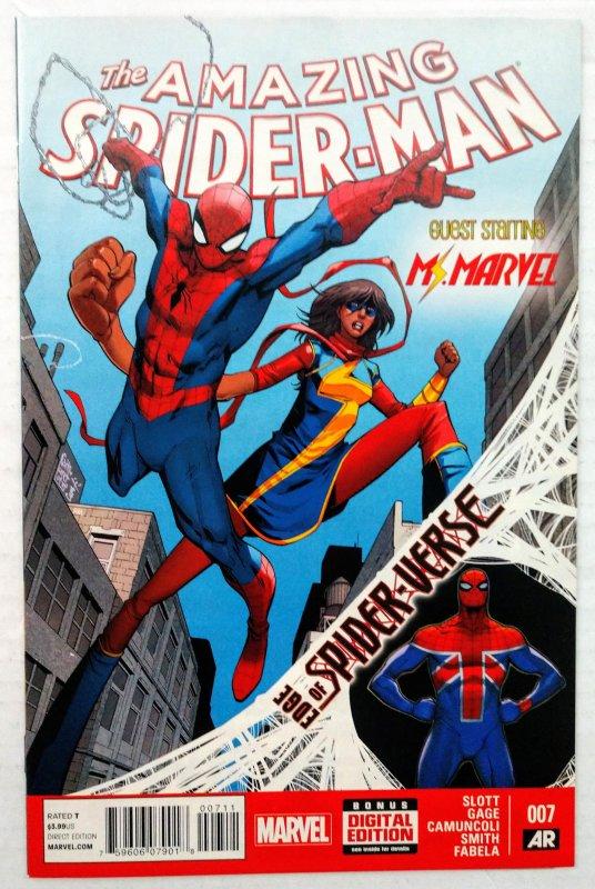 Amazing Spider-Man #7 (NM+, 2014) 1ST APP SPIDER-UK
