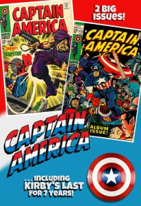 CAPTAIN AMERICA #108,#112 (1968-69) Double the Action in One Buy! Lee/Kirby x 2!