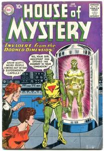 HOUSE OF MYSTERY #106 HORROR SCI-FI DISASTE    1961 DC G/VG