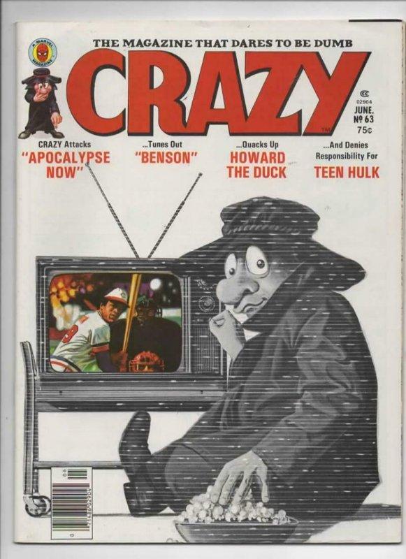 CRAZY #63 Magazine, VF-, Apocalypse Now, Teen Hulk, 1973 1980, more in store