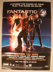 FANTASTIC FOUR Promo Poster, 19x27, 2005, Unused, more in our store