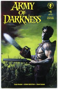 ARMY of DARKNESS #1 NM-, 1992, Evil Dead, Bruce Campbell, John Bolton, AoD