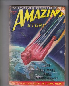 Amazing Stories pulp magazine March 1950