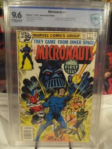 Micronauts #1 - CBCS 9.6 - NM+ White Pages - 1st Micronauts - Newsstand Edition