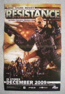 RESISTANCE ACTION FIGURES Promo Poster, 2009, Unused, more in our store