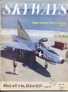 Skyways 7/1952-Henry-fConsolidated Vulture XF-92A cover photo-NATO air power-...