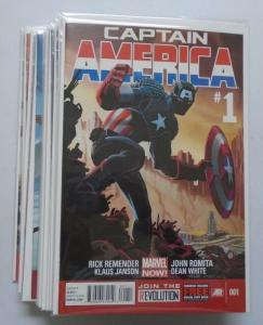 Captain America (7th Series) Set:#1-15, 8.0/VF (2013)