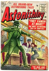 Astonishing #42 1955-Atlas horror- From Out of Smog VG/F