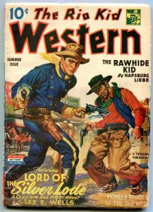 Rio Kid Western Pulp Summer 1944-  Rawhide Kid- Lord of Silver Lode VG