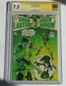 Green Lantern #76 CGC 7.5 SS Signature Series Signed By Neal Adams DC Comic 1970