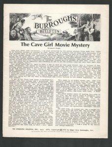 Burroughs Bulletin #20 1970-Edgar Rice Burroughs & TarzanFanzine-The Cave Gir...