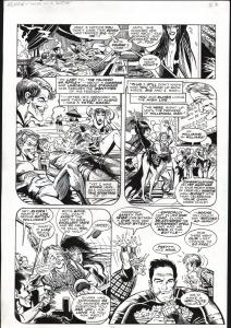 ELVIRA #95-ORIGINAL ART-TOD SMITH-PG#3-MESS IN A BOTTLE FN