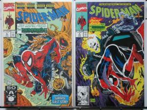 SPIDERMAN (1990) 6-7  Masques Ghost Rider & Hobgoblin