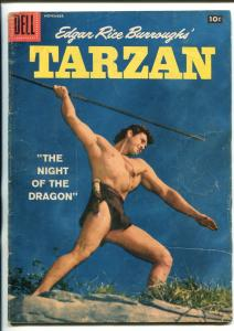 TARZAN #98-1957-DELL-GORDON SCOTT COVER- BURROUGHS- MARSH- MANNING-vg
