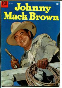 Johnny Mack Brown-Four Color Comics #584 1954-Dell-photo cover-B-Western-FN