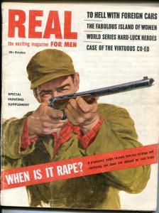 Real For Men 10/1963-pulp-Kathleen Hughes cheesecake-Blassingame-hunting-VG
