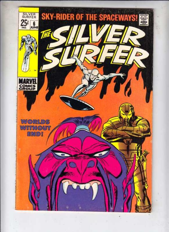 Silver Surfer #6 (Jun-69) VF High-Grade Silver Surfer, Shalla Bal