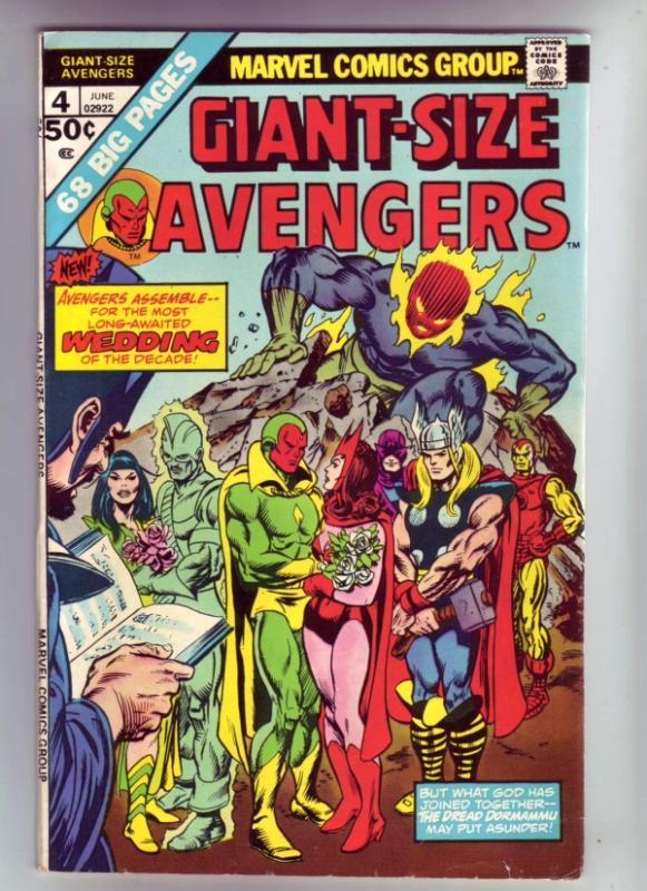 Giant-Size Avengers #4 (Jun-75) VF/NM- High-Grade The Avengers