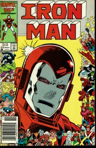 Iron Man #212 - VERY FINE - 25th Anniversary Cover