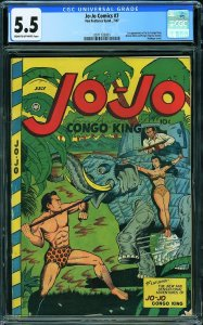 Jo-Jo Comics #7 (Fox, 1947) CGC 5.5 KEY - 1st appearance Jo-Jo, Congo King