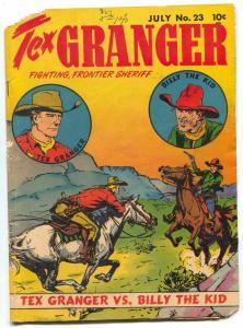 Tex Granger #23 1949- vs Billy the Kid- Western comic G